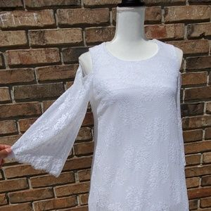 Alfani Scalloped Lace Fancy Tunic